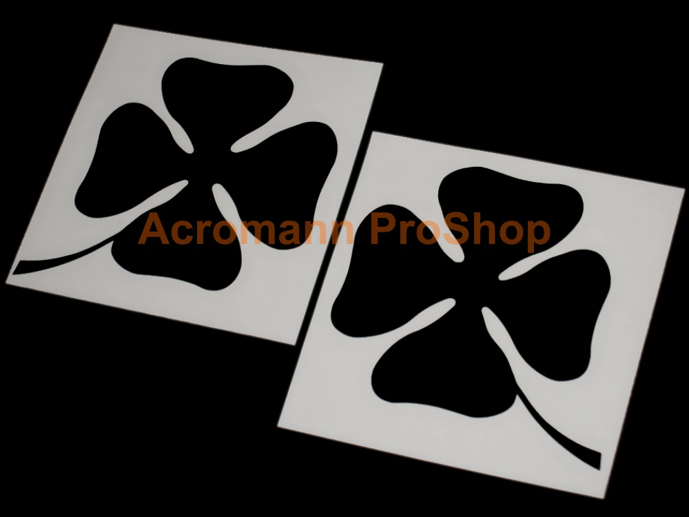 Clover Leaf 3inch Decal (Style#18) x 1 pair (LHS & RHS)