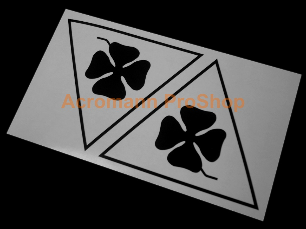 Clover Leaf 4inch Triangle Decal (Style#19) x 2 pcs