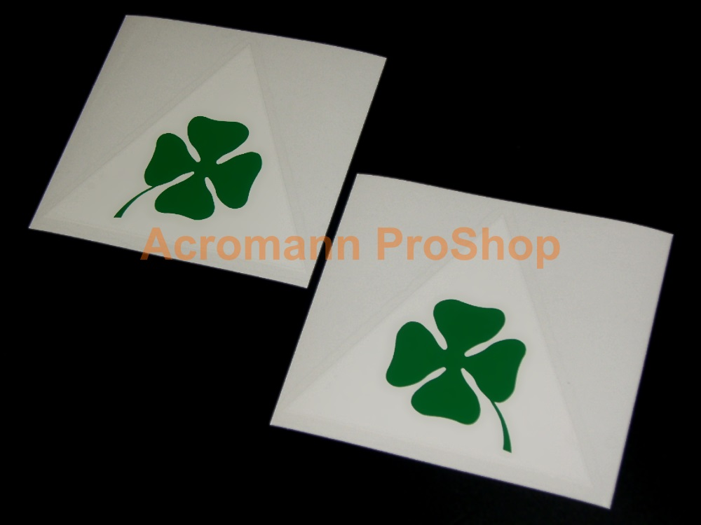 Clover Leaf 4inch Triangle Decal (Style#20) x 1 pair (LHS & RHS)