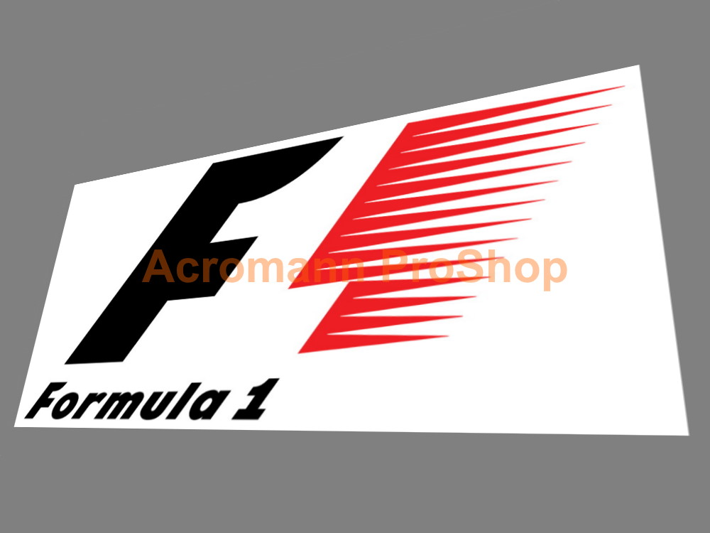 F1 FIA Formula One World Championship 6inch Logo Decals#1 x 2pcs