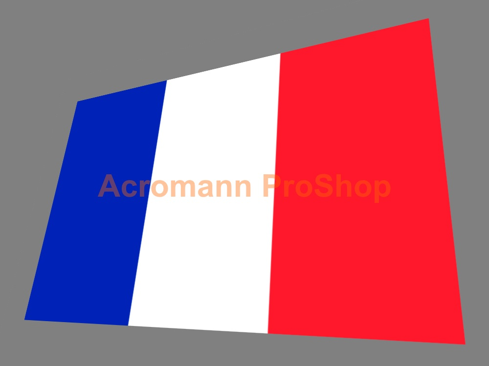 France Flag 5inch Decal (Style#1) x 1 pc