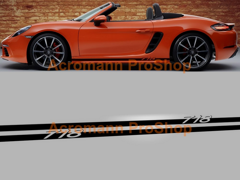 Porsche 718 Boxster Cayman Side Door Decal x 1 pair (LHS & RHS)