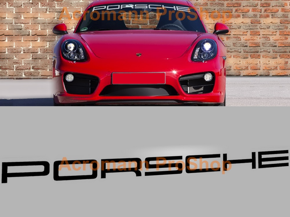 Porsche Windshield Decal (Style#2) - Curved