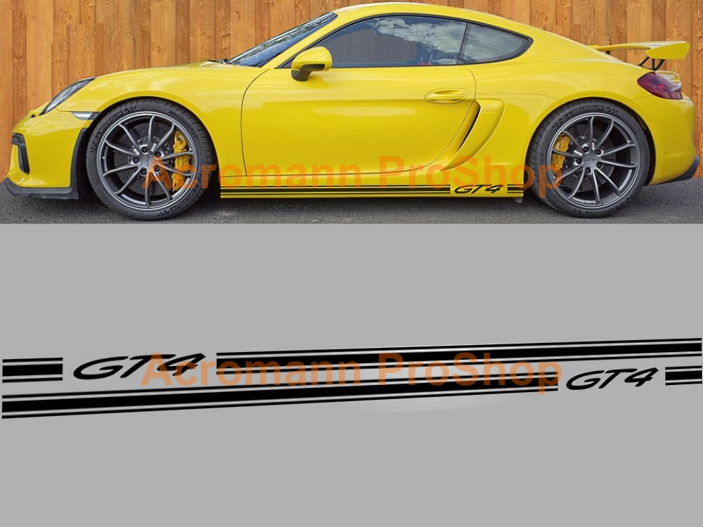 Porsche Cayman GT4 Side Door Decal (Style#2) x 1 pair (LHS&RHS)