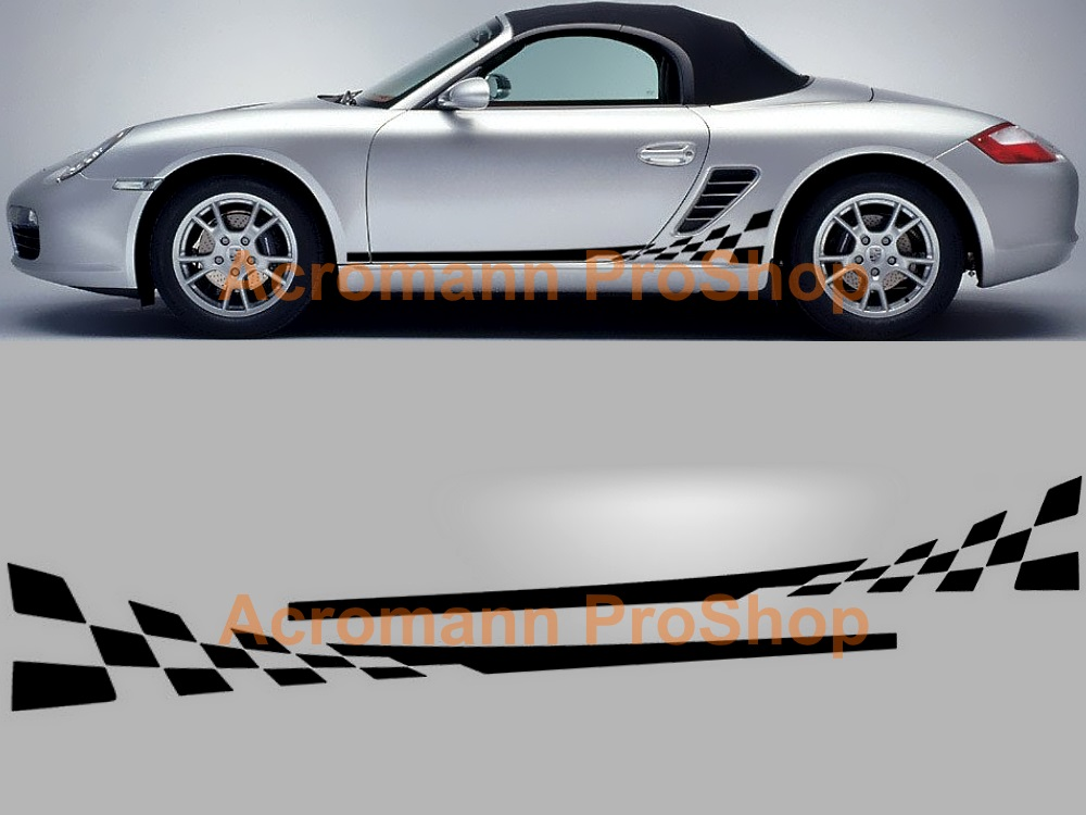 Porsche 987 Boxster Cayman Side Door Decal x 1 pair (LHS & RHS)