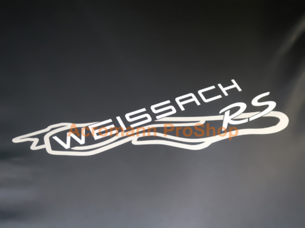 Porsche Weissach RS 911 991 GT3 GT2 6inch Logo Decals Sticker x2