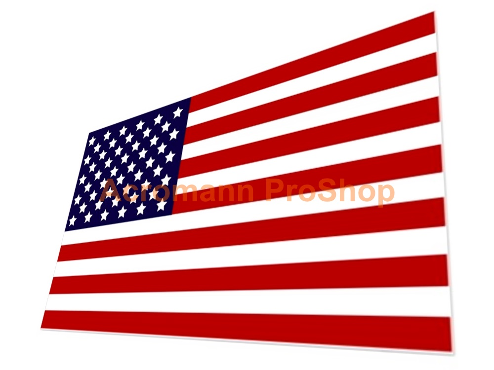 United States America Flag 5inch Decal (Style#1) x 1 pc