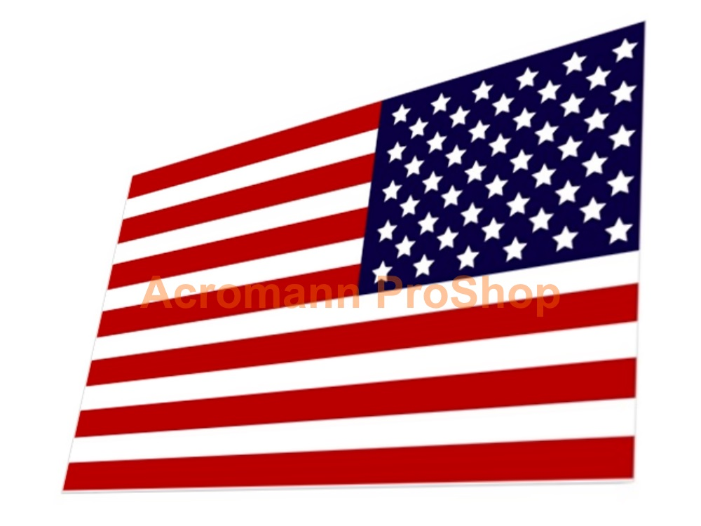 United States America Flag 5inch Decal (Style#2) x 1 pc
